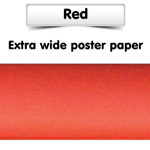 Red Poster Paper Extra Wide Roll
